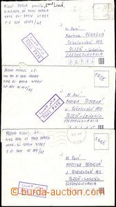 51402 - 1991 3 dopisy ze Saudské Arábie do ČSSR, 3x rámečkové