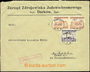 51408 - 1938 company letter sent to Brno, paid wit Polish stamps wit