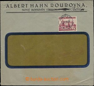 51433 - 1938 commercial window envelope franked with. Polish stamp.