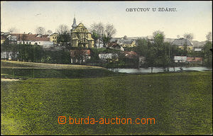 51439 - 1933 Obyčtov by/on/at Žďár, color view of part of the villag
