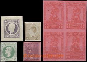 51465 - 1900-14 small assembly of trial prints and drafts of stamps