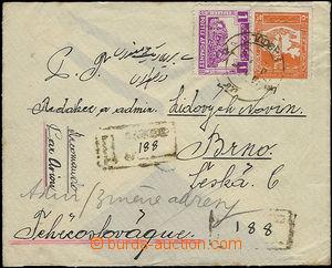 51474 - 1936 R-dopis do ČSR, vyfr. zn. Mi.260, 257, DR Kabul, vzadu