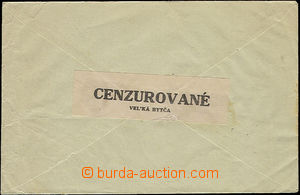 51489 - 1945 letter sent from Slovakia to Brno Us Slovak censorship