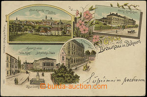51519 - 1900 Broumov (Braunau in Bohemia) - 4-views lithography; lon
