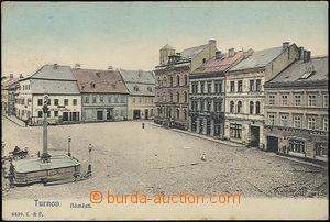 51520 - 1908 Turnov - náměstí; prošlá, lehké skvrny v okrajích