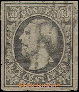 51548 - 1852 Mi.1d  Wilhelm III., light postmark, bumped corner, tot