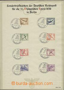 51644 - 1936 OLYMPIÁDA  XI. LOH Berlín 36, nálepní list s německými