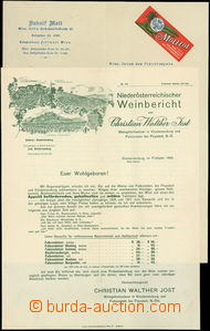 51650 - 1908 Austria  2 pcs of commercial letters on heading paper -