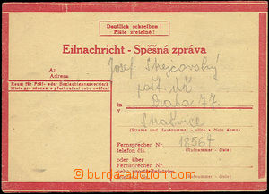 51666 - 1941 stationery Express Card No.1 type VII, used in Brno wit