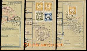 51683 - 1941 3ks ústřižků průvodek s útvarovými razítky VV,
