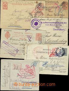 51688 - 1915-17 sestava 6ks cenzurovaných celistvostí, 2x ruská d