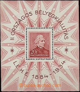 51710 - 1934 Mi.Bl.1, (Mi.516, 20f Liszt), kat. 170€