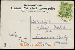 51735 - 1910 CRETE view card from Jerusalem franked by stamp for Cre