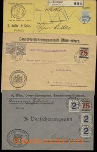51743 - 1879-20 sestava 2ks služebních dopisů vyfr. zn. Mi.2x 228