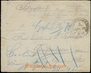 51753 - 1870? PREUSSEN letter with daily postmark K.PR.FELD-POST - E