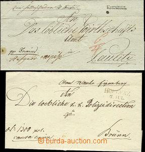 51768 - 1818-1848 2x letter with řádovými cancel. HOFLENZ/ 7.Jul.