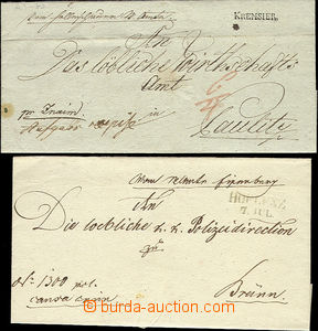 51768 - 1818-1848 2x dopis s řádovými raz. HOFLENZ/ 7.Jul., KREMS