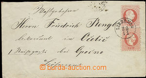 51770 - 1868 postal stationery cover Mi.U55 with uprated by. stmp 5