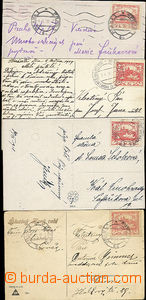 51790 - 1918-19 comp. 4 pcs of Ppc with 10h with early usage - CDS.