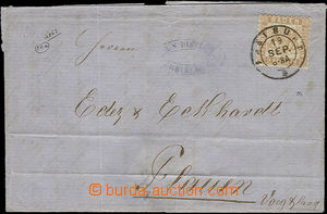 51818 - 1863 skládaný dopis vyfr. zn. Mi.20, DR Freiburg/ 19SEPT., p