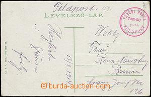 51828 - 1914 červené kruhové raz. Tábori Posta/ Feldpost/ Pozson