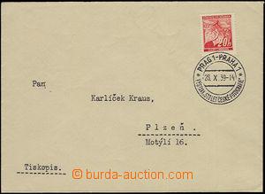 51839 - 1939 dopis jako tiskopis s PR Pof.PR 11, Výstava Sto let č