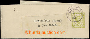 51854 - 1893 newspaper adress stripe Mi. S3, daily postmark Pikšic