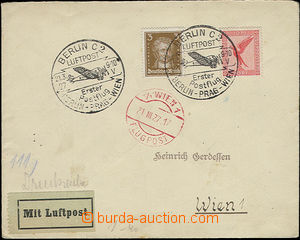 51879 - 1927 airmail letter transported by the 1.st flight Berlin -
