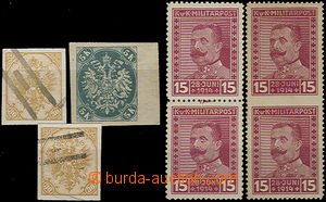 51885 - 1900-17 3x trial print Eagle year 1900, various quality, 2x
