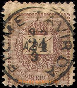 51895 - 1892 circular daily postmark FIUME TÁVIRDA 92 Apr.9. (telegr