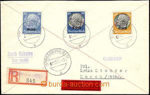 51920 - 1940 ELSASS registered +Express letter franked by Mi.9, 15,1