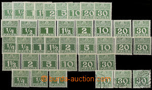 51959 - 1908 LEVANTE assembly of postage stamps from the year 1908,