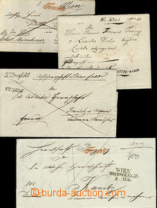 51991 - 1818-43 3 pieces of folded letters and one envelope with str