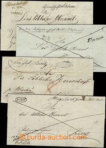 52008 - 1820-42 4ks skládaných dopisů s řádkovými razítky HOR