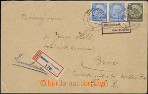 52042 - 1939 OTTENDORF/ über Troppau, framed pmk Postal Agency (Oti