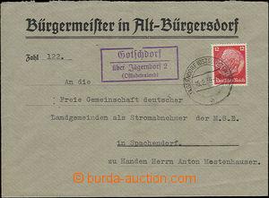 52043 - 1939 GOTSCHDORF/ über Jägerndorf 2/ (Ostsudetenland), impr
