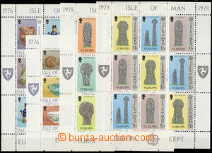 52049 - 1976-78 ISLE OF MAN  sestava 4ks 9-bloků se zn. Mi.82-87, 12