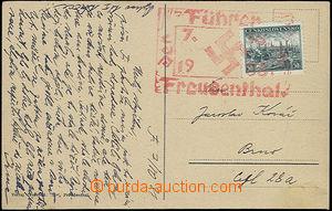 52050 - 1938 red propagandistic cancel. Der Fürer in Freudenthal 7.