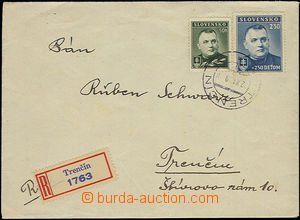 52064 - 1939 Reg letter sent in the place franked with. i.a. Surtax