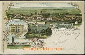 52093 - 1899 Kopidlno - litografická koláž, cukrovar, radnice; DA, p