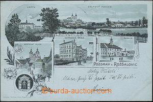 52094 - 1900 Rožďalovice - lithography; long address, Us, broken c