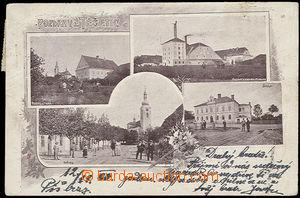 52099 - 1900 Těšetice,  4okénková, pivovar a sladovna, škola, n