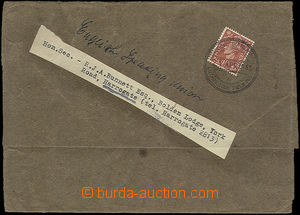 52139 - 1943 celý novinový rukáv vyfr. výplatní zn. 1½p s