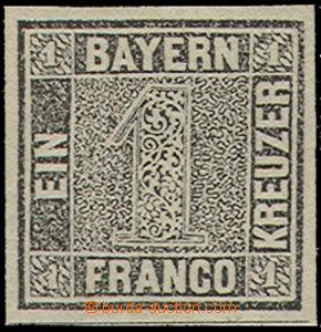 52142 - 1849 Mi.1, Bavorská jednička, luxusní