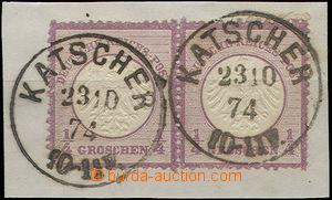 52144 - 1872 Mi.1 ve vodorovné 2-pásce, hezké DR Katscher 23.10.7