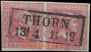 52149 - 1858 Mi.10 ve vodorovné 2-pásce, luxusní otisk DR Thorn 1