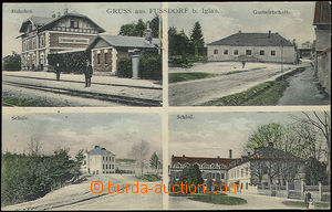 52173 - 1910 Rantířov (Fussdorf) - 4-views, railway-station; Us, g