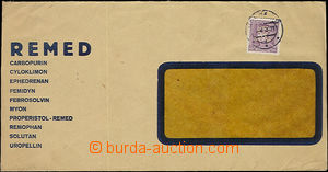 52301 - 1939 window envelope firm Remed, letter sent in the place, w