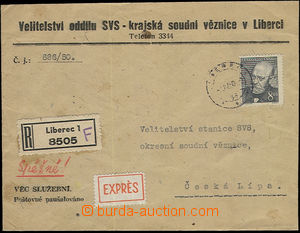 52302 - 1950 envelope Headquarters division Prison guard - regional