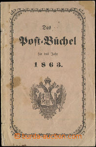 52385 - 1863 Post-Book in German, stains in paper